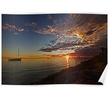 Denham sunset Poster