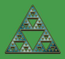 Sierpinski, Triangle, Mathematics, Fractal, Math, Geometry One Piece - Short Sleeve