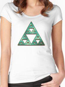 Sierpinski, Triangle, Mathematics, Fractal, Math, Geometry Women's Fitted Scoop T-Shirt