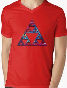 Sierpinski, Triangle, Mathematics, Fractal, Math, Geometry Mens V-Neck T-Shirt