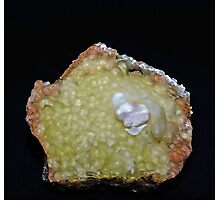 Botryoidal Agate in Green Photographic Print