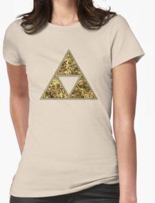 Sierpinski Triangle, Triforce, Zelda, Mathematics, Fractal, Math, Geometry Womens Fitted T-Shirt