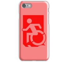 Emergency Exit Sign, with the Accessible Means of Egress Icon, part of the Accessible Exit Sign Project iPhone Case/Skin