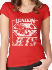 London Jets Distressed Women's Fitted Scoop T-Shirt