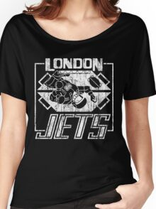 London Jets Distressed Women's Relaxed Fit T-Shirt