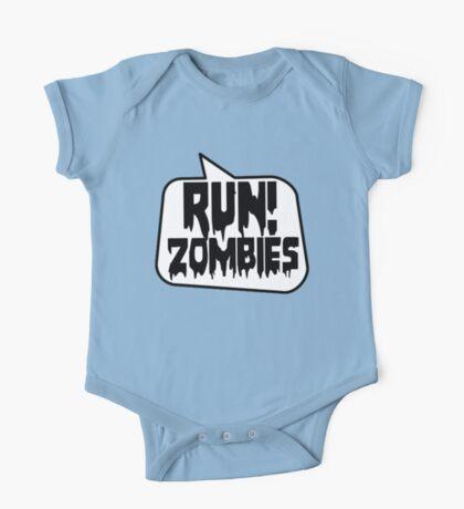 RUN! ZOMBIES SPEECH BUBBLE by Zombie Ghetto One Piece - Short Sleeve