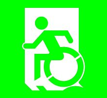 Emergency Exit Sign, with the Accessible Means of Egress Icon, part of the Accessible Exit Sign Project by Egress Group Pty Ltd