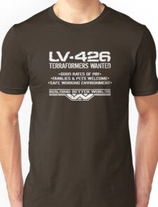 LV-426 Terraformers Wanted Unisex T-Shirt