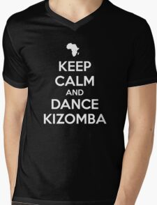 Keep calm and dance kizomba Mens V-Neck T-Shirt