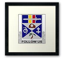 293rd Infantry Regiment - Follow Us Framed Print