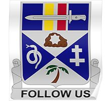 293rd Infantry Regiment - Follow Us Poster