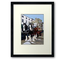 Draught and Dray Framed Print