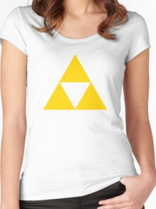 Triforce - Ancient Magical Symbol, Sierpinski Triangle Women's Fitted Scoop T-Shirt