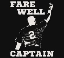 Farewell Captain Derek Jeter Baseball T-Shirt by xdurango