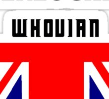 Proud to be : pottered, sherlocked, whovian Sticker