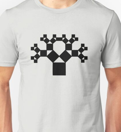 Pythagoras Tree Fractal, Patterns Of Creation, Mathematics, Geometic Unisex T-Shirt