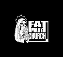 Fat Mary Church (black) phone cases by rootsofriot