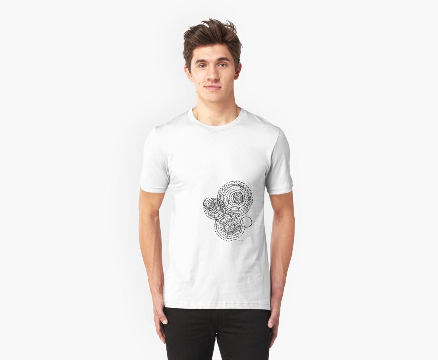 LINEart T-shirt : Fish Eyes 2 by LINEart