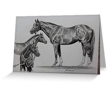 Secretariat Seasons Greeting Card