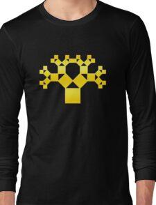 Pythagoras Tree Fractal, Patterns Of Creation, Mathematics, Geometic Long Sleeve T-Shirt