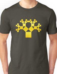 Pythagoras Tree Fractal, Patterns Of Creation, Mathematics, Geometic Unisex T-Shirt