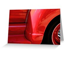 Hippy red truck Greeting Card