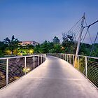Footbridge at Falls Park by Brent Craft