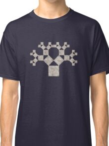 Pythagoras Tree Fractal, Patterns Of Creation, Mathematics, Geometic Classic T-Shirt