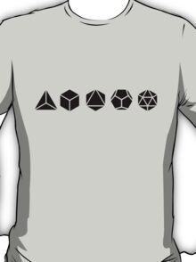 Platonic Solids - Building Blocks Of Life - Mathematics, Geometry T-Shirt