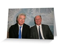 Randolph Churchill with Michael Fallon MP Greeting Card