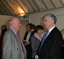 Christopher Jary  in conversation with Michael Fallon MP by Keith Larby