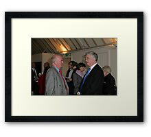 Christopher Jary  in conversation with Michael Fallon MP Framed Print