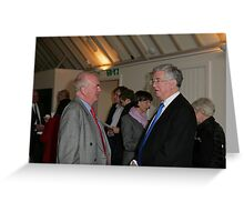 Christopher Jary  in conversation with Michael Fallon MP Greeting Card