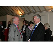 Christopher Jary  in conversation with Michael Fallon MP Photographic Print