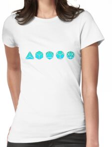 Platonic Solids - Building Blocks Of Life - Mathematics, Geometry Womens Fitted T-Shirt