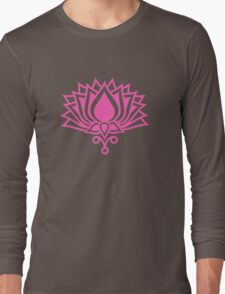 Lotus Flower Symbol Wisdom & Enlightenment Buddhism Zen Long Sleeve T-Shirt