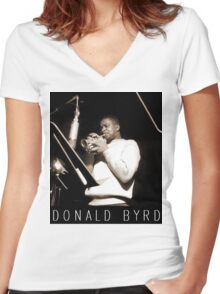 DONALD BYRD Women's Fitted V-Neck T-Shirt