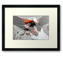 Put your hands together. Framed Print