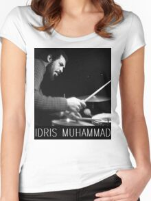 IDRIS MUHAMMAD Women's Fitted Scoop T-Shirt