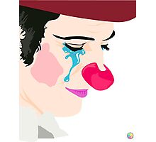 Melancholy Clown Photographic Print