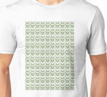 Green foxes faces  Unisex T-Shirt