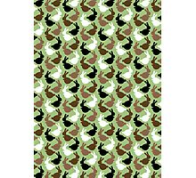 Rabbit Run repeating pattern Photographic Print