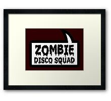ZOMBIE DISCO SQUAD SPEECH BUBBLE by Zombie Ghetto Framed Print