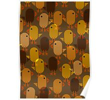 Easter Chicks repeating pattern Poster