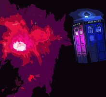Doctor Who TARDIS Painting by Colin Bradley