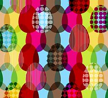 Easter eggs repeat pattern by pygmycreative