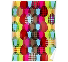 Easter eggs repeat pattern Poster