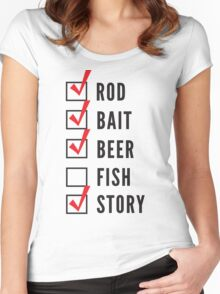 Fishing Checklist Women's Fitted Scoop T-Shirt