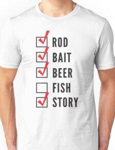 Fishing Checklist Unisex T-Shirt