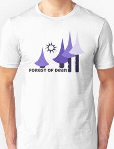 Wyld Forest of Dean t-shirt (in whortleberry) Unisex T-Shirt